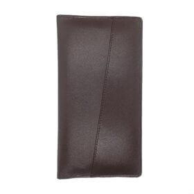 Long Slim Brown Leather Wallet For Men